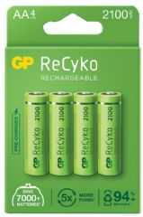 GP BATTERIES GPRHC212E003  Recylable Aa Pack 4 Recyko Pre 2100Mah